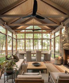 Screened Porch Designs, Screened In Patio, Backyard Plan, Backyard Patio, Porch Kits, Porch Ideas, Sunroom Ideas, Patio Ideas, Landscaping Ideas