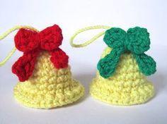 Crafteando, que es gerundio: Patrón: Campanas navideñas/ Pattern: Christmas bel...