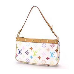 Louis Vuitton Pochette Accessoires Monogram Multicolore Handle bags White Canvas M92649