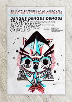 Poster, Flyer, Cartel, Design, Graphic Design Art by Bigotesucio Cumbia dengue dengue dengue