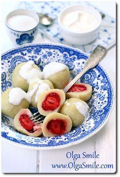 Knedle z truskawkami - przepis | Kulinarne przepisy Olgi Smile