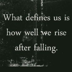 rise after falling