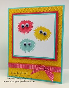 Warm Fuzzies with Stampin' Up! Simple Stems, Cased Lorri Heiling, Stamping to Share, Kay Kalthoff, Video Tutorial