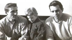 "Neal Cassady, Cathy Cassady, and Jack Kerouac (Photo by Carolyn Cassady)   ""I hadnt learned anything in college that was going to help me to be a writer anyway and the only place to learn was in my own mind in my own real adventures: an adventurous education, an education adventuresomeness, name it.""   - Jack Kerouac in Vanity of Duluoz (1968)"