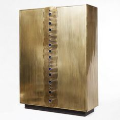ERWAN BOULLOUD DESIGNER AND SCULPTEUR | Amazing Golden Cabinet for Contemporary Living Room | Modern Cabinet | Living room Cabinet | Cabinet Design | http://buffetsandcabinets.com