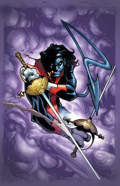 Nightcrawler #1 variant cover by Humberto Ramos, colours by Edgar Delgado *
