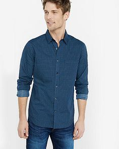 fitted micro geo print going out shirt