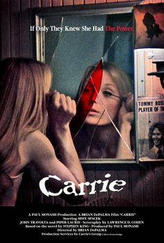 A different Carrie poster, giving away another important plot point.  via http://supervillain.tumblr.com/post/51686261207