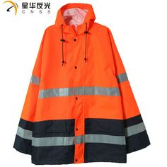 CNSS High visibility assorted color rain jacket