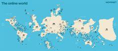 Πώς θα ήταν ο παγκόσμιος χάρτης βάσει αριθμού ιστοσελίδων; |thetoc.gr