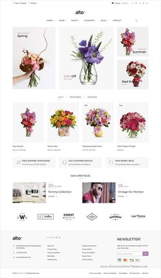 Alto is a clean and elegant design responsive HTML bootstrap template for #florist #flowershop stunning eCommerce website with 13+ unique homepage layouts download now➩  https://themeforest.net/item/alto-minimalist-ecommerce-template/19490275?ref=Datasata
