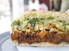 A Sandwich a Day: Chorizo and Potato Torta at Choza   Serious Eats : New York