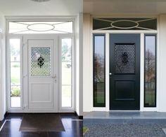 kunstof voordeur House Doors, House Entrance, Aluminium Doors, Black Doors, Entry Doors, Front Doors, Minimalist Home, Windows And Doors, My House