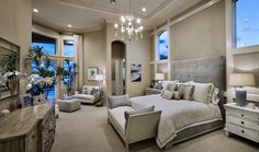 Toll Brothers - Beautiful Master Suite in the Carrington Model at Frenchman's Harbor. North Palm Beach, FL