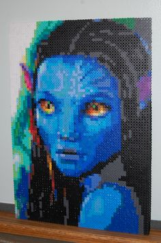 avatar neytari perler bead art made by me - amanda wasend