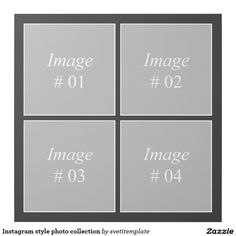 Instagram style photo collection gallery wrap