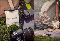 SHERPA 50 SOLAR KIT | BY GOAL ZERO --  Fully power and recharge all of your electronics thoughtful your next camping trip. Sure, it weighs 2.2 lbs. But that weight spread across a family of campers is worth it to power phones, cameras, lighting, etc.  It is a luxury.