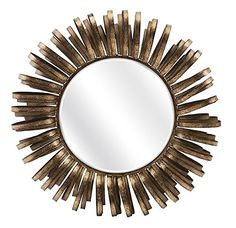 Round Silver Sunburst Wall Mirror 90 X 90 X 4cm Troon