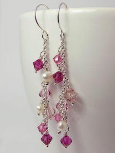 Pearl & Crystal earrings