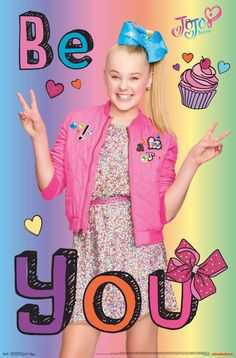 d39d7bc26d69e Trends International Jojo Siwa Be You Wall Poster 22.375