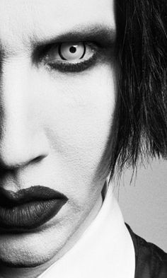 Marilyn Manson in Deadpool 17 mm contact lenses http://www.fantasmagoria.eu/deadpool-17mm-contact-lenses-pair