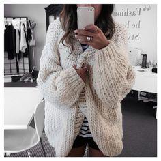 Cozy oversized knit | Fall Favorites | Pinterest | Grandpa sweater ...
