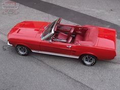 Red on Red....1967 Mustang convertible