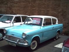 my Nan and Gramps had one of these cars! Ford Motor Company, Ford Anglia, Bike Engine, Automotive Art, Car Ford, All Cars, The Good Old Days, Tenerife, Motor Car
