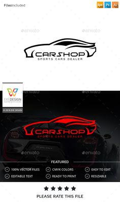 Car Logo by Exe-Design Font used: - Moonhouse Files included: - vector file - AI, EPS, PSD .