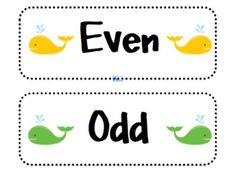 Here's a whale-themed sorting activity for odd and even numbers.
