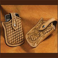 Carry your cell phone safely in the style of the American West with a hand crafted holster you cake yourself. This is the pattern that is used in the Premium Video that teaches how to select and cut the proper leather, suggestions for tooling and construction techniques.