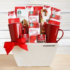 This festive gift basket is certain to warm things up this holiday season! An excellent choice for those coffee lovers on your list.