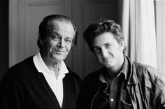 Jack Nicholson Photo: Jack Nicholson and Sean Penn Sean Penn, Jack Nicholson, Here's Johnny, Celebrities Then And Now, Best Supporting Actor, Special People, People Photography, Famous Faces, Hollywood Stars
