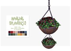 Nolan Sims here. To kick off this year's @plumbobteasociety Secret Santa 2017, I have a few special gifts for the precious fruit salad~ @applezingsims! For post ¼ here is a simple set of Hanging...