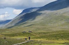 King's Trail (Kungsleden) in Sweden.  I'd like to hike this at some point. During the summer.  Not crazy about hypothermia in the Swedish Lapland.