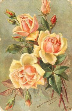 Антикварные открытки с цветами начала 20 века. Обсуждение на LiveInternet - Российский Сервис Онлайн-Дневников