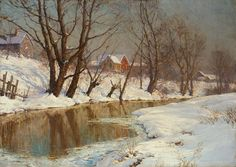 walter launt palmer | Winter Morning Painting by Walter Launt Palmer - Winter Morning Fine ...