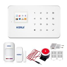 Kerui 공장 g18 안드로이드 iso app 무선 gsm 홈 경보 시스템 SIM 스마트 홈 도난 보안 경보 시스템 키트 PIR 적외선
