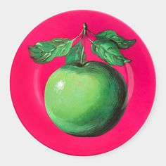 "Magritte: Apple Plate | MoMAstore.org, 1959, preserves the vivid color of the painted original on durable, dishwasher-safe melamine, 7.75""dia, $16"