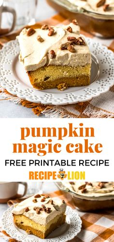 Pumpkin magic cake is the Thanksgiving dessert recipe you've been looking for! This delicious holiday recipe is absolute perfection. Stuffing Recipes For Thanksgiving, Thanksgiving Side Dishes, Thanksgiving Turkey, Holiday Recipes, Cake Recipes, Dessert Recipes, Desserts, Appetizer Recipes, Appetizers