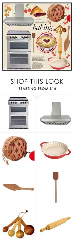 """""""Baking Apple Pie"""" by jeneric2015 ❤ liked on Polyvore featuring interior, interiors, interior design, home, home decor, interior decorating, Kobe, Betsey Johnson, Staub and Jonathan's Spoons"""