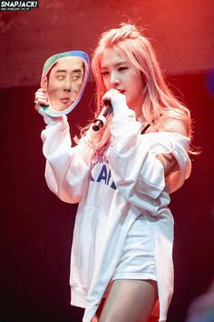Why is she looking so serious ! Joker, K Pop, Kard Bm, Dancehall, Rapper, Dsp Media, Kim Taehyung, Hip Hop, Channel