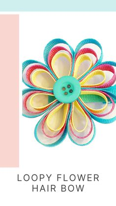 With spring in the air, it's the perfect time to make some fun crafts with the kids! Try this adorable loopy flower hair bow that is easy to make and makes for an amazing hairdo! Try this ribbon craft today! See the full tutorial on our website. Offray.com  #diyribboncraft #springcrafts #kidscraft #kidshairdos #kidshair #kidshairclips