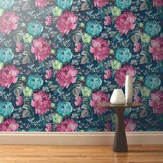 Dianthus Loganberry Designer Wallpaper