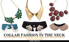 COLLAR FASHION IN THE NECK    romwe.com
