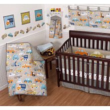 "Sumersault Gridlock 10 Piece Crib Bedding Set Grey - Sumersault Ltd - Babies ""R"" Us"