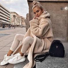 outfits with leggings \ outfits . outfits for school . outfits with leggings . outfits with air force ones . outfits with sweatpants . outfits with black jeans Winter Outfits For Teen Girls, Winter Fashion Outfits, Fall Outfits, Autumn Fashion, Fashion Spring, Winter Outfits 2019, Cozy Winter Outfits, Summer Outfits, Fashion Clothes