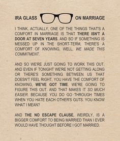 Unlike a lot of people I know, I do not have a perfect marriage, but it IS a great one. We work hard to make it great. These words about commitment sum it up so well!