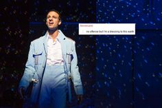 Ari'el stachel as Haled is The Band's Visit the band's visit tbv text posts text post The Band's Visit, The Greatest Showman, Dear Evan Hansen, Phantom Of The Opera, Les Miserables, Musical Theatre, My Life, Broadway Shows, Shit Happens