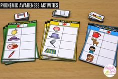 Have you ever heard the term phonemic awareness and wondered what it is? I get a lot of emails from parents who are ready to teach their child how to Phonemic Awareness Kindergarten, Phonemic Awareness Activities, Phonological Awareness, Alphabet Activities, Reading Activities, Phonics Lessons, Phonics Games, Teaching Phonics, Teaching Strategies